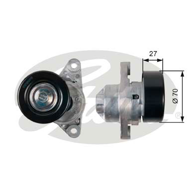 GATES Tensioner Pulley: T38273