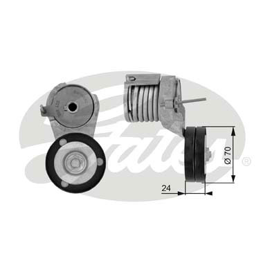 GATES Tensioner Pulley: T38282