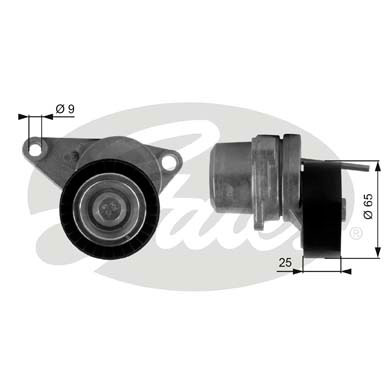 GATES Tensioner Pulley: T38313