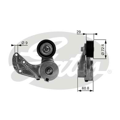 GATES Tensioner Pulley: T38317
