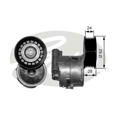 GATES Tensioner Pulley: T38343