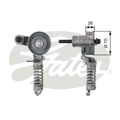 GATES Tensioner Pulley: T38344