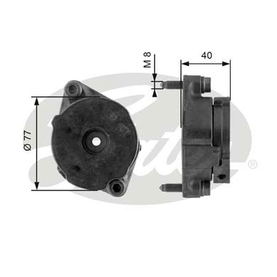 GATES Tensioner Pulley: T38345