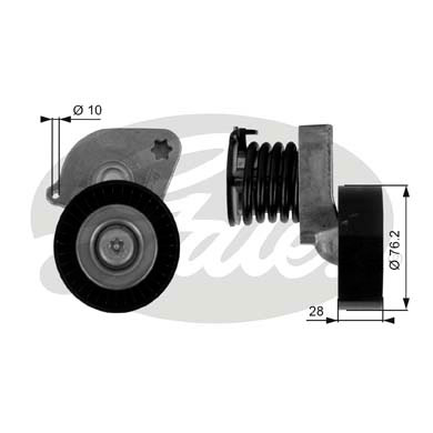 GATES Tensioner Pulley: T38346