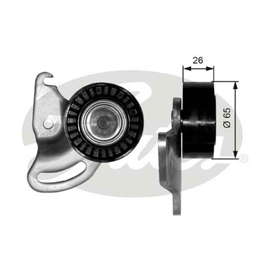 GATES Tensioner Pulley: T38347