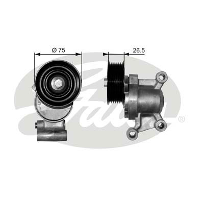 GATES Tensioner Pulley: T38357