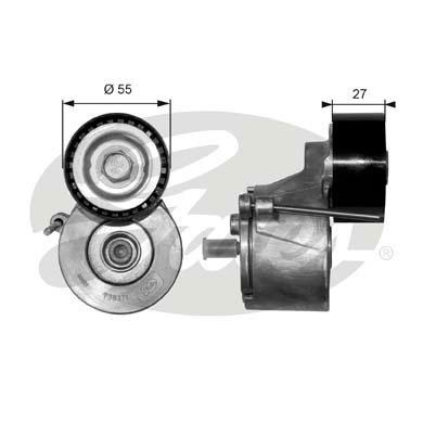 GATES Tensioner Pulley: T38371