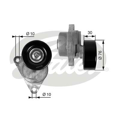 GATES Tensioner Pulley: T38376