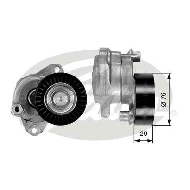 GATES Tensioner Pulley: T38390