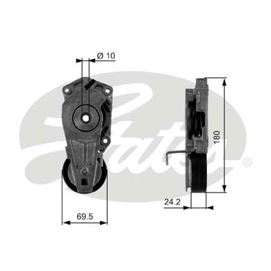 GATES Tensioner Pulley: T38405