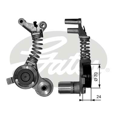 GATES Tensioner Pulley: T38406