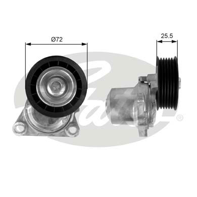 GATES Tensioner Pulley: T38408