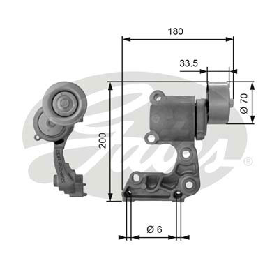 GATES Tensioner Pulley: T38410