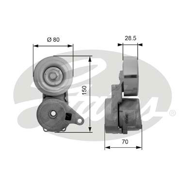 GATES Tensioner Pulley: T38413
