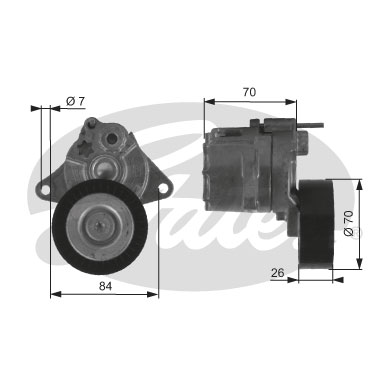 GATES Tensioner Pulley: T38415