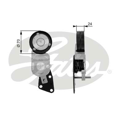 GATES Tensioner Pulley: T38426