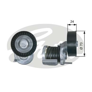 GATES Tensioner Pulley: T38427