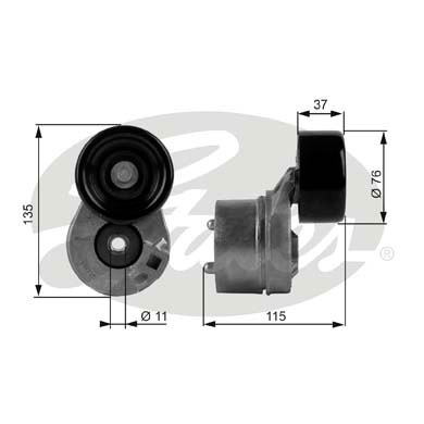 GATES Tensioner Pulley: T38431