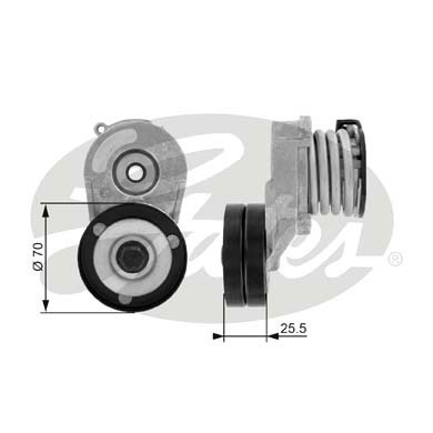 GATES Tensioner Pulley: T38432
