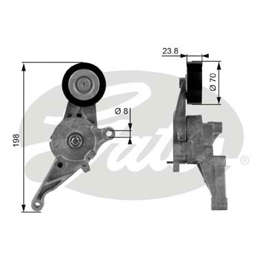 GATES Tensioner Pulley: T38436