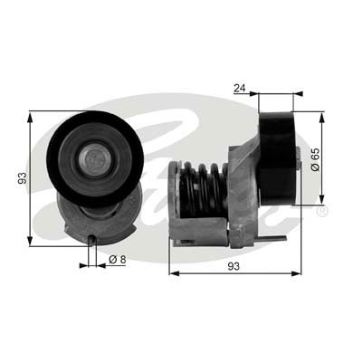 GATES Tensioner Pulley: T38439