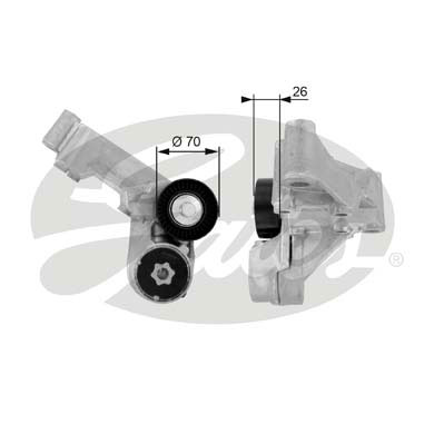 GATES Tensioner Pulley: T38444