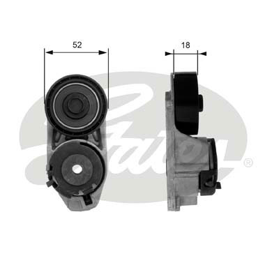 GATES Tensioner Pulley: T38445