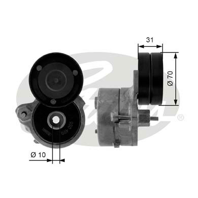 GATES Tensioner Pulley: T38451