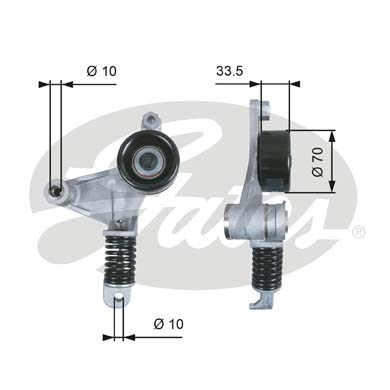GATES Tensioner Pulley: T38453