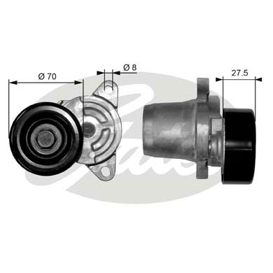 GATES Tensioner Pulley: T38454