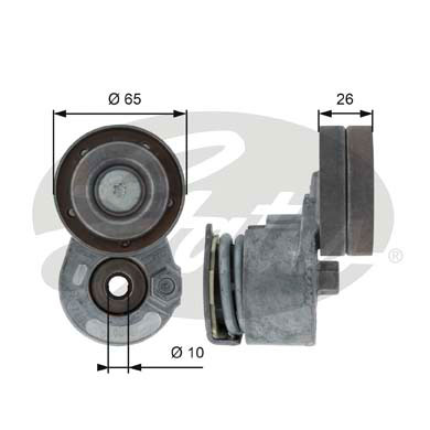 GATES Tensioner Pulley: T38468