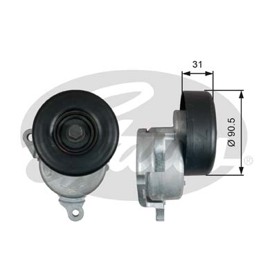 GATES Tensioner Pulley: T38480
