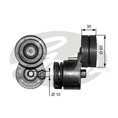 GATES Tensioner Pulley: T38482