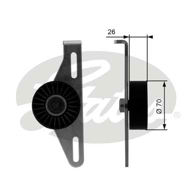 GATES Tensioner Pulley: T38484