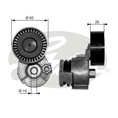 GATES Tensioner Pulley: T39009