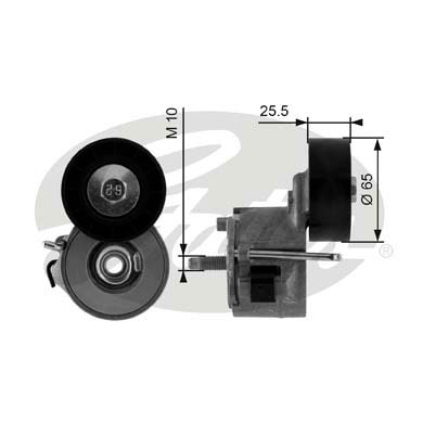 GATES Tensioner Pulley: T39014