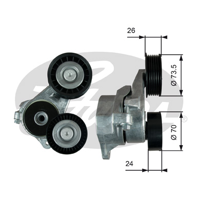 GATES Tensioner Pulley: T39024