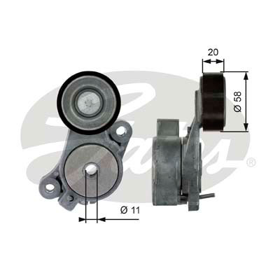 GATES Tensioner Pulley: T39040