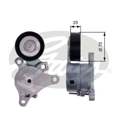 GATES Tensioner Pulley: T39041