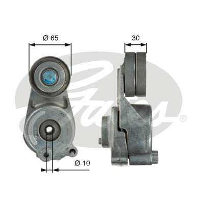 GATES Tensioner Pulley: T39062