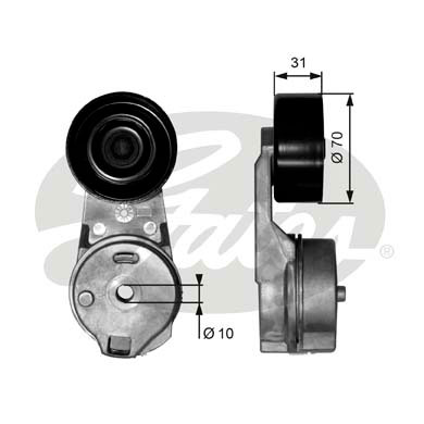 GATES Tensioner Pulley: T39065