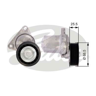 GATES Tensioner Pulley: T39074