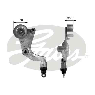 GATES Tensioner Pulley: T39077