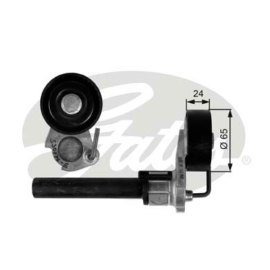 GATES Tensioner Pulley: T39087