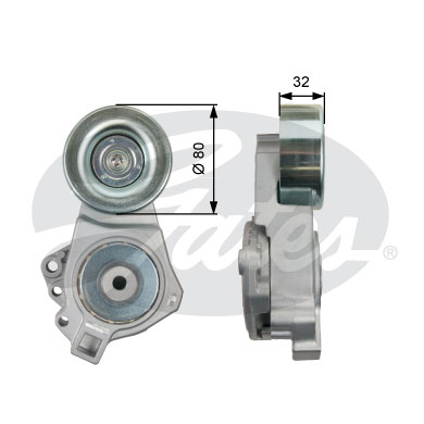 GATES Tensioner Pulley: T39098