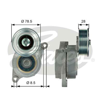 GATES Tensioner Pulley: T39103