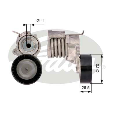 GATES Tensioner Pulley: T39115