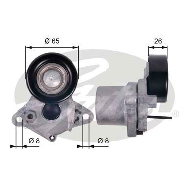 GATES Tensioner Pulley: T39123