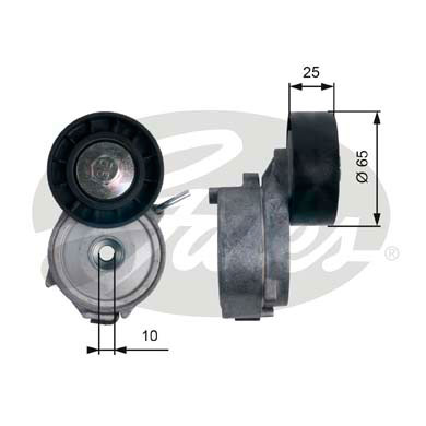 GATES Tensioner Pulley: T39124
