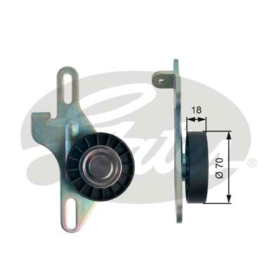 GATES Tensioner Pulley: T39143